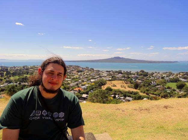 Mt.Victoria con el Volcan Rangitoto de Fondo